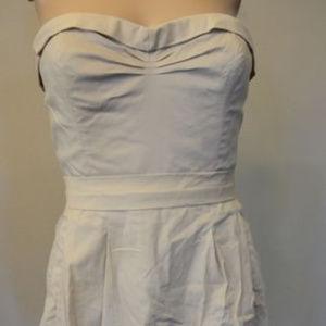 BCBG MAXAZRIA Ruffled Button Down  Cream XS #420 Dresses - BCBG MAXAZRIA Ruffled Button Down  Cream XS #420